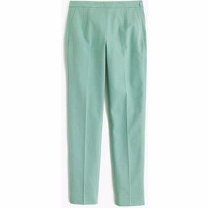 J. Crew Martie Slim Crop Pants Mint Green Size 14